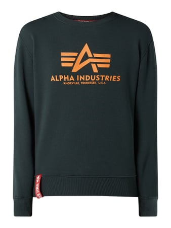 Alpha Industries 'BASIC SWEATER' mit Logo-Print Türkis - 1