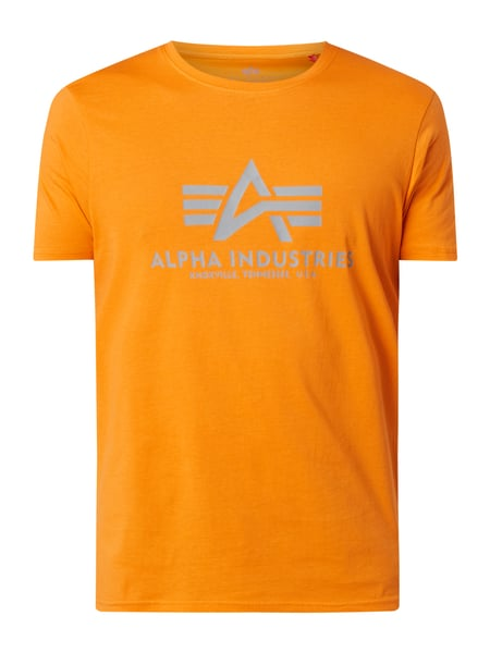 Alpha Industries 'BASIC T-SHIRT' aus Baumwolle mit Logo-Print Orange - 1