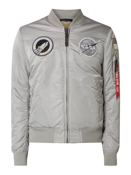 Alpha Industries Bomber mit NASA-Patches Silber - 1