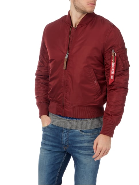Alpha Industries Bomber mit Wattierung Bordeaux Rot - 1