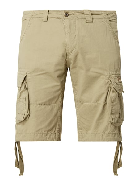 Alpha Industries Cargobermudas im Washed Out-Look Modell 'Jet' Weiß - 1