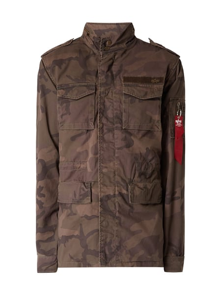 Alpha Industries Fieldjacket 'HUNTINGTON' mit Schulterriegeln Olivgrün