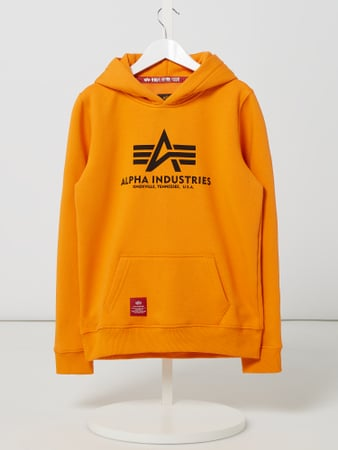 Alpha Industries Hoodie mit Logo-Print Orange - 1