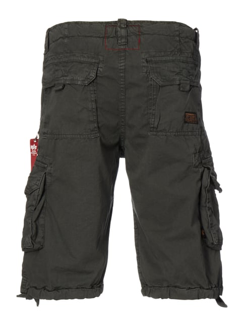 Alpha Industries Cargoshorts mit Tunnelzügen Anthrazit - 1