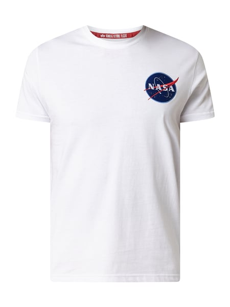 Alpha Industries 'SPACE SHUTTLE T' mit NASA-Stickerei Weiß - 1