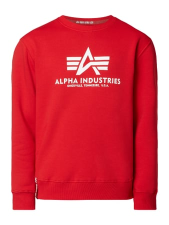 Alpha Industries Sweatshirt mit Logo-Print Rot - 1