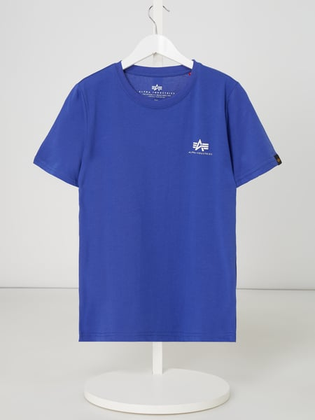 Alpha Industries T-Shirt mit Logo-Print Blau - 1