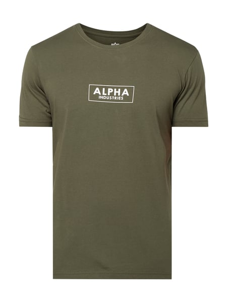 Alpha Industries T-Shirt mit Logo-Print Grün - 1