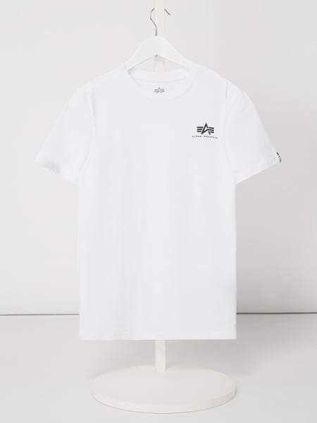 Alpha Industries T-Shirt mit Logo-Print Weiß - 1