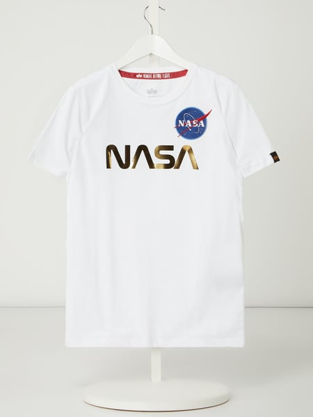Alpha Industries T-Shirt mit NASA-Print Weiß - 1