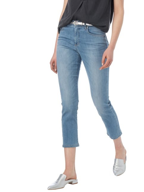 Angels One Washed Ankle Cut Jeans Hellblau meliert - 1
