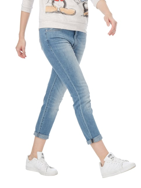 Angels Stone Washed Girlfriend Fit Jeans Hellblau meliert - 1