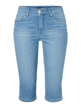 Stone Washed Regular Fit Caprijeans Blau / Türkis - 1