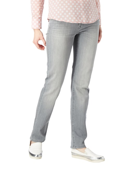 Angels Stone Washed Slim Fit Jeans mit Ziernähten Graphit - 1