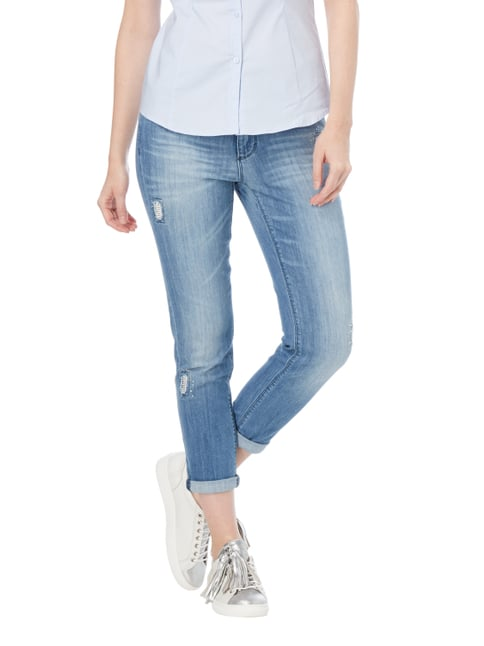 Angels Stone Washed Slim Fit Jenas mit Ziersteinen Jeans meliert - 1