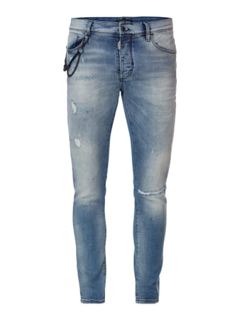 5-Pocket-Jeans im Destroyed Look Weiß - 1