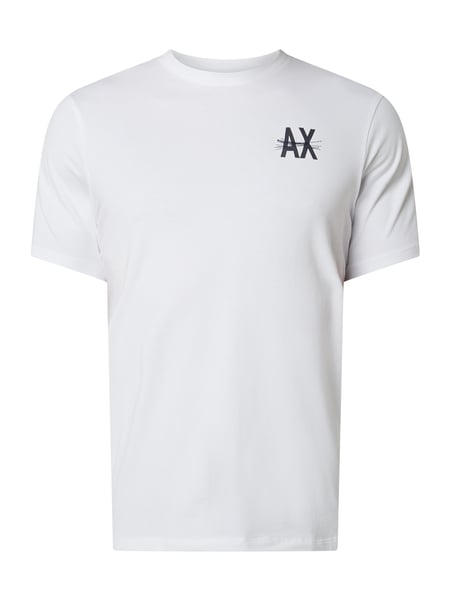 ARMANI EXCHANGE Regular Fit T-Shirt aus Baumwoll-Elasthan-Mix Weiß - 1