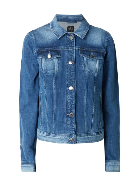 ARMANI EXCHANGE Stone Washed Jeansjacke mit Stretch-Anteil Jeans
