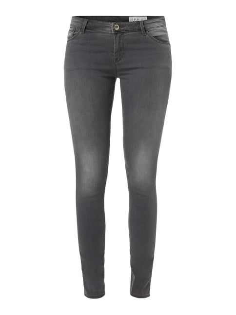 Coloured Skinny Fit Jeans mit Push Up-Effekt Grau / Schwarz - 1