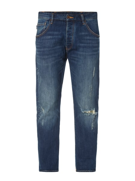 Armani Jeans Slim Fit Jeans im Destroyed Look Blau - 1