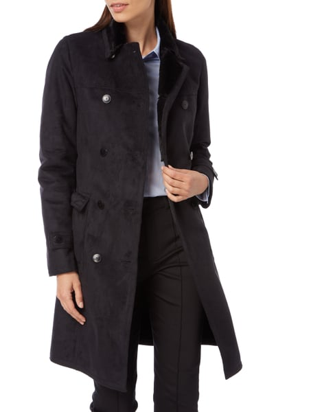 armani jeans trenchcoat in shearlingoptik in grau. Black Bedroom Furniture Sets. Home Design Ideas