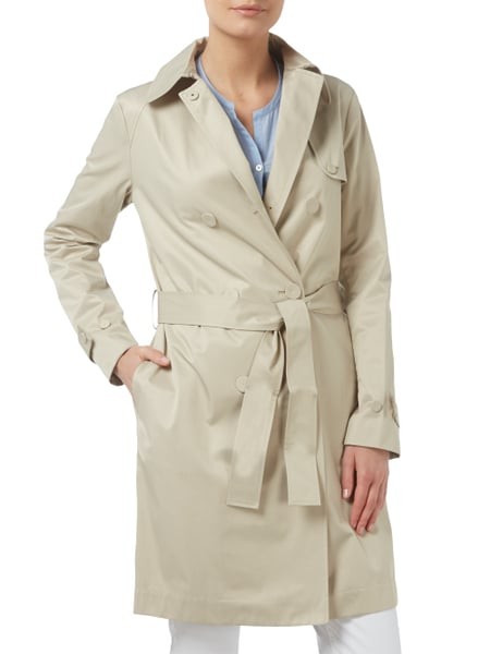 premium selection c8241 ab932 ARMANI-JEANS Trenchcoat mit 2-reihiger Knopfleiste in Weiß ...