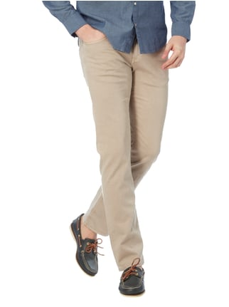Baldessarini Regular Fit 5-Pocket-Hose mit Webstruktur Beige - 1