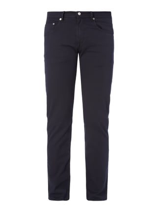 Regular Fit 5-Pocket-Hose mit Webstruktur Blau / Türkis - 1