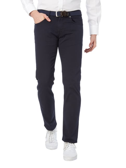 Baldessarini Regular Fit 5-Pocket-Hose mit Webstruktur Marineblau - 1