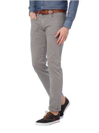 Baldessarini Regular Fit 5-Pocket-Hose mit Webstruktur Stein - 1
