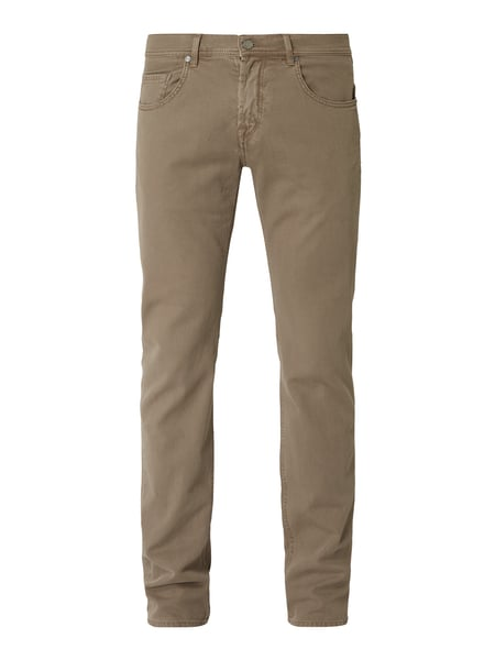 Baldessarini Straight Fit Hose mit Webstruktur Beige - 1