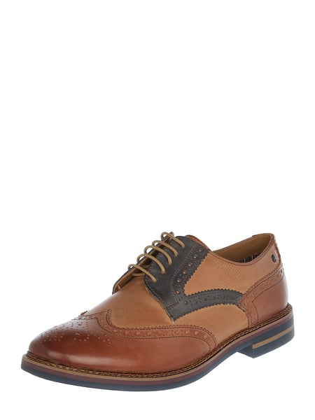 Base London Brogues aus Leder mit Lyralochung Braun - 1