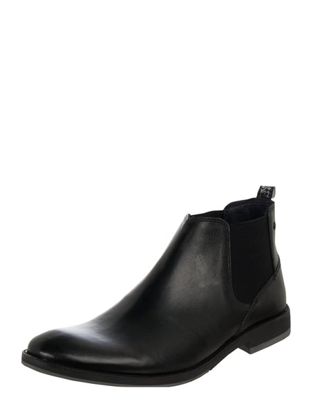 Base London Chelsea Boots aus Leder Schwarz - 1