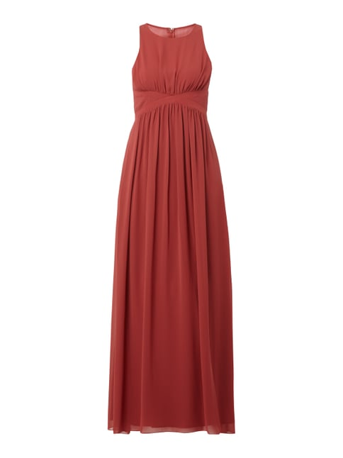Abendkleid aus Chiffon Orange - 1