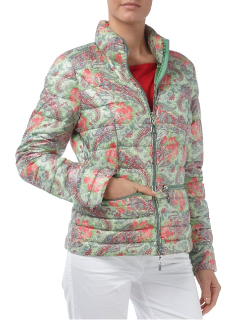 Beaumont Amsterdam Light-Daunen Steppjacke mit ornamentalem Muster Mint - 1