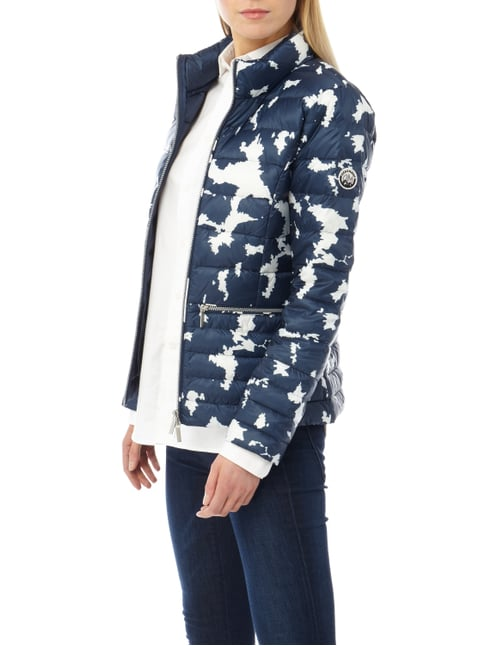 Beaumont Amsterdam Light-Daunenjacke mit Allover-Muster Marineblau - 1