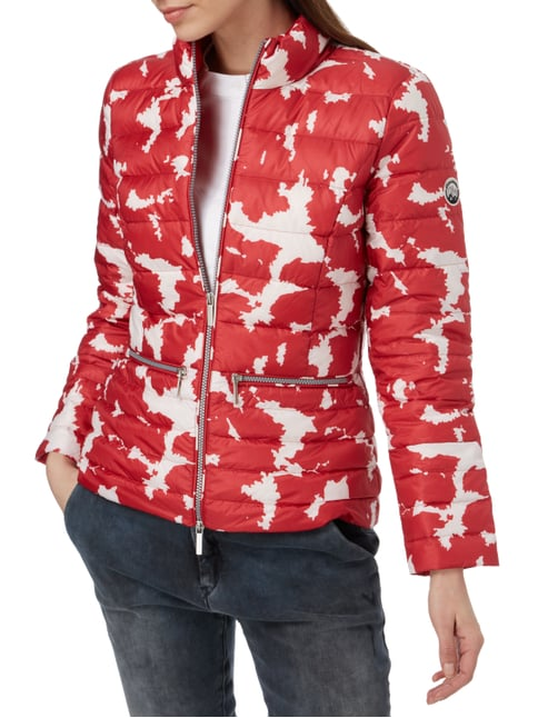 Beaumont Amsterdam Light-Daunenjacke mit Allover-Muster Rot - 1