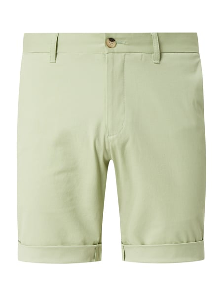 Ben Sherman Regular Fit Chino-Shorts mit Stretch-Anteil Grün - 1