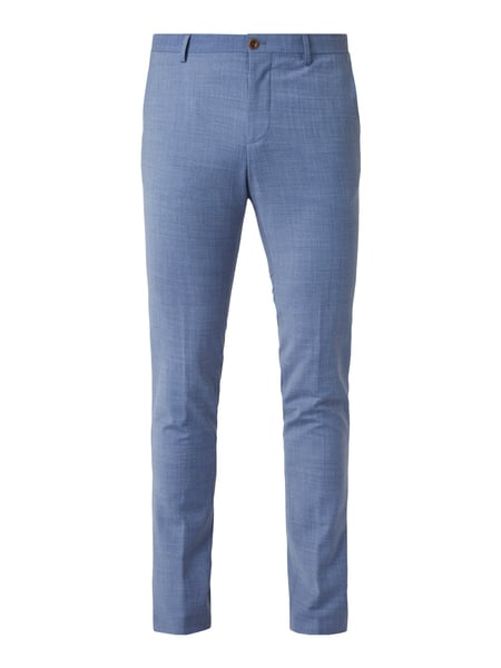 Bertoni Business-Hose in Melangeoptik Blau - 1