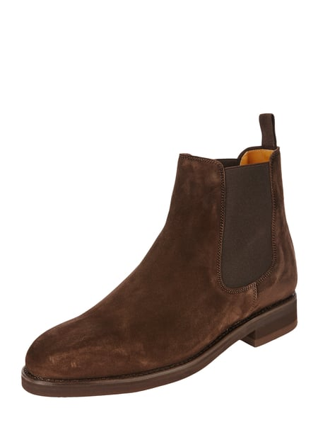 House of Paul Rosen Chelsea Boots aus Veloursleder Braun - 1