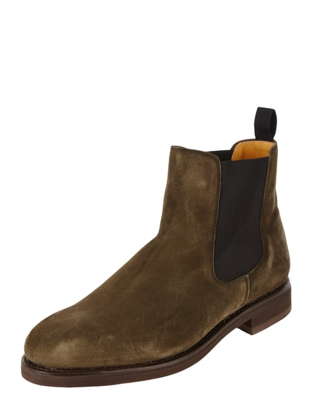 House of Paul Rosen Chelsea Boots aus Veloursleder Grün - 1