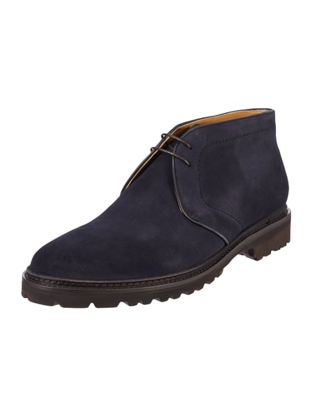 House of Paul Rosen Desert Boots aus Veloursleder Marineblau