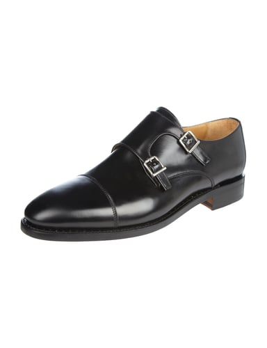 paul rosen men double monk straps aus glattleder in grau schwarz online kaufen 9661978 p c. Black Bedroom Furniture Sets. Home Design Ideas
