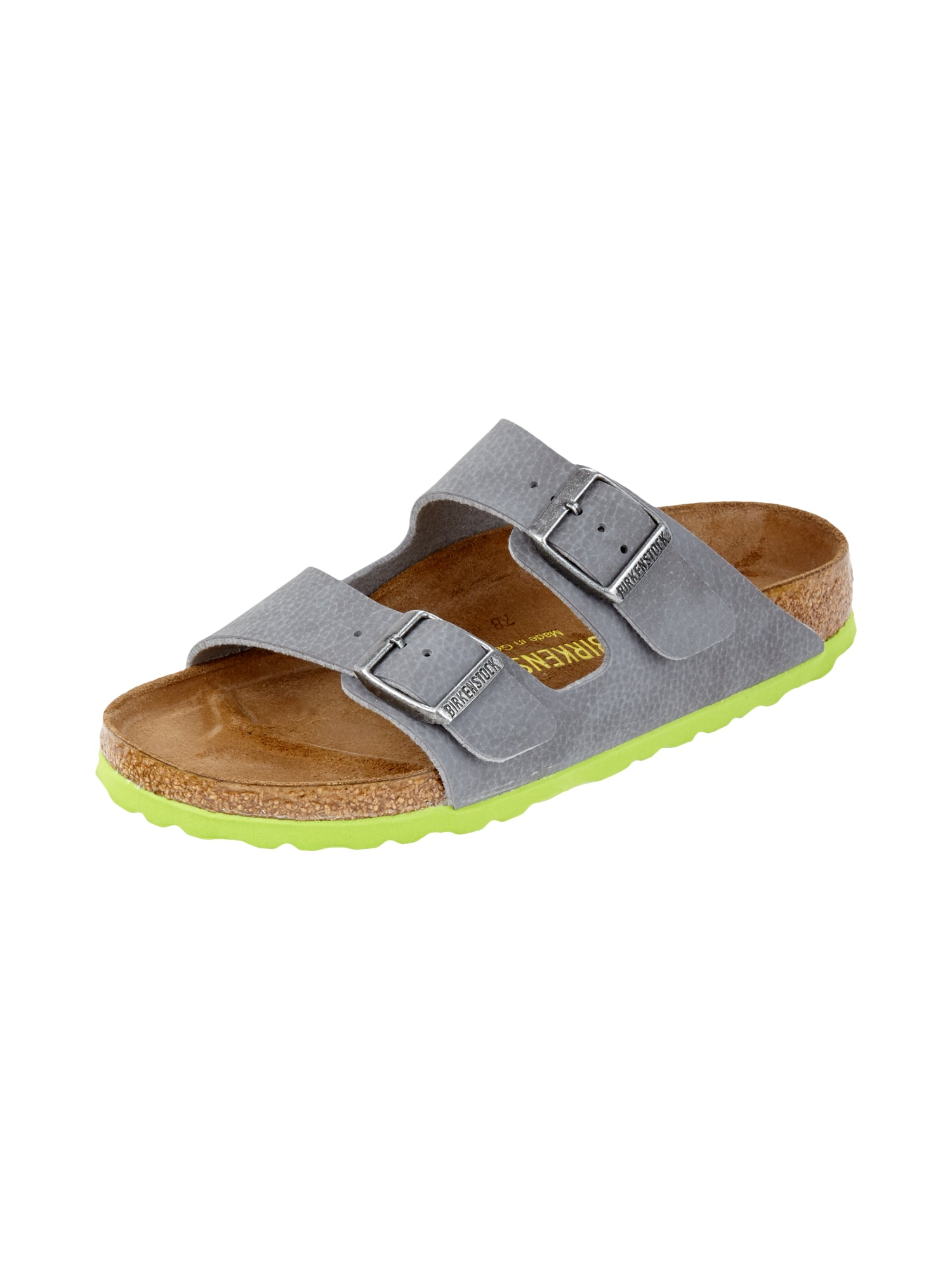 birkenstock sandalen mit ergonomischem fu bett in grau schwarz online kaufen 9445006 p c. Black Bedroom Furniture Sets. Home Design Ideas