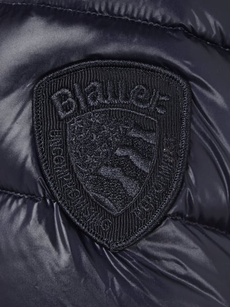 Blauer usa steppmantel