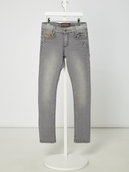 Blue Effect Normal Fit Jeans mit Skinny Leg Grau - 1