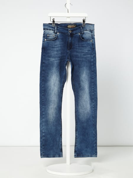 Blue Effect Stone Washed Regular Fit Jeans Blau - 1