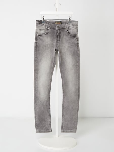 Blue Effect Stone Washed Skinny Fit Jeans Grau - 1