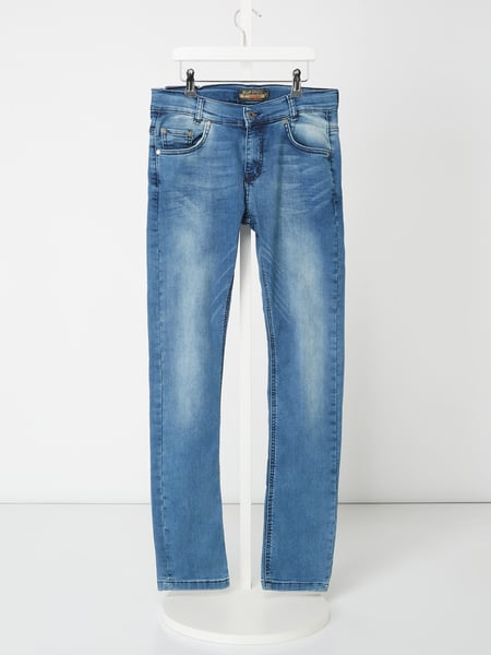 Blue Effect Stone Washed Skinny Fit Jeans Blau - 1