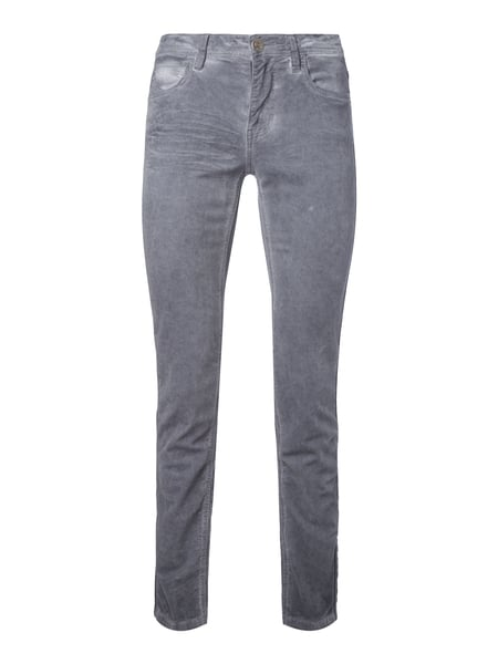 BLUE-FIRE-JEANS Washed Out Slim Fit Samthose In Grau